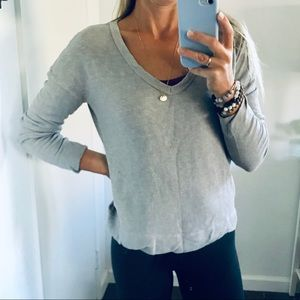 James Perse Tops - James Perse   Boxy V Neck Pullover